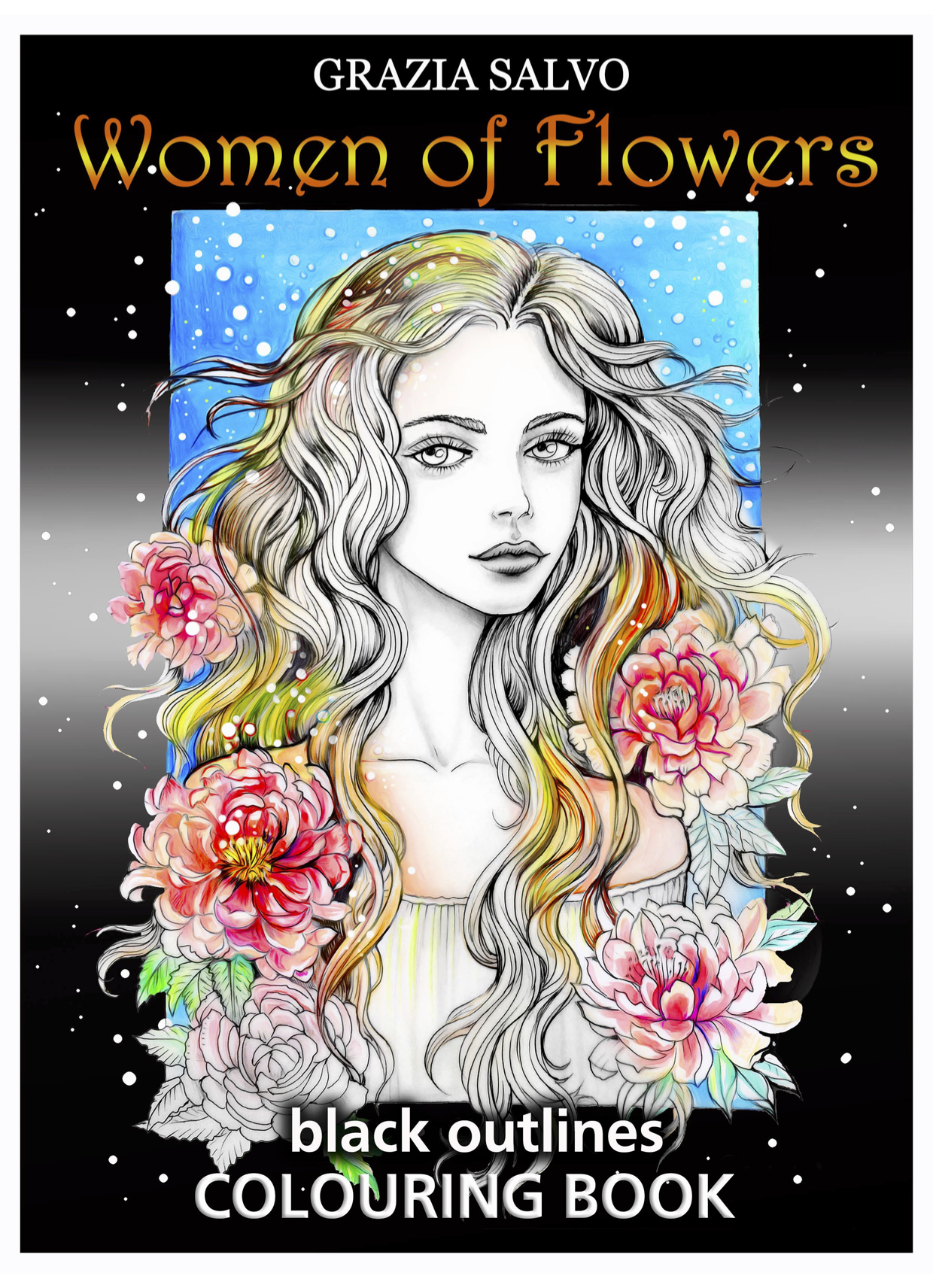 Kindness: Women of Flowers Coloring Book