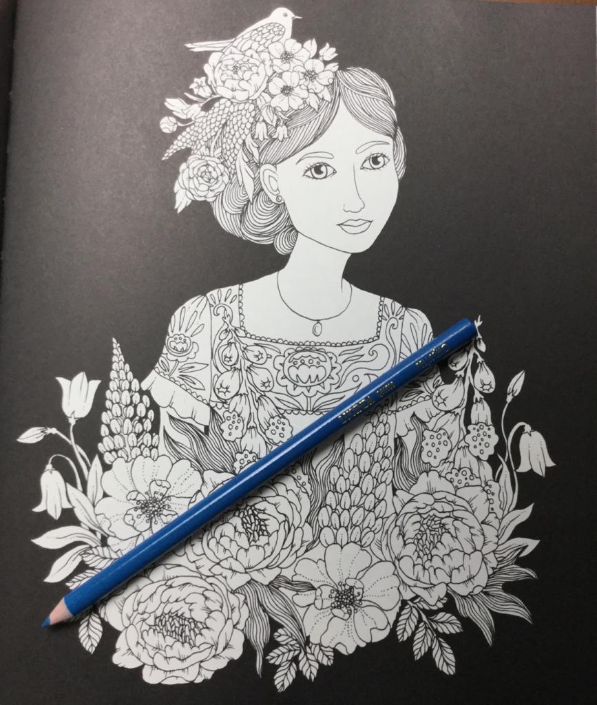 illustration of a girl with flowers from Botanicum