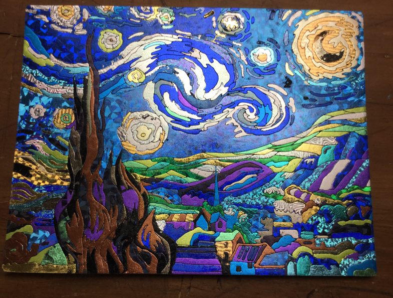 glintarts starry night - Glintarts Twinkling Masterpiece Review and Giveaway