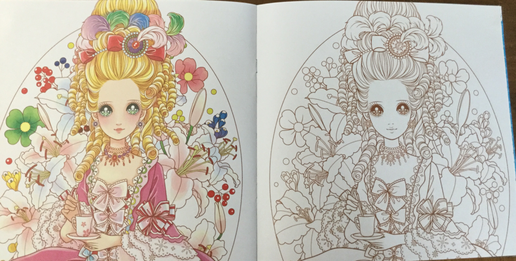 Chinese coloring book featuring Princesses