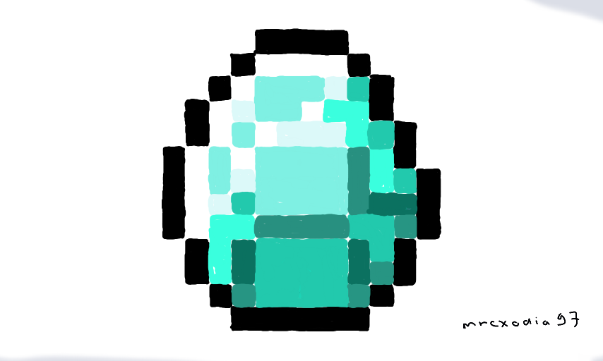 Нарисованный алмаз из майнкрафта