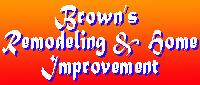 Website for Brown's Remodeling & Home Improvement
