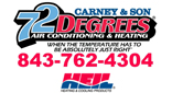 Website for Carney & Son 72 Degrees Air Conditioning and Heating