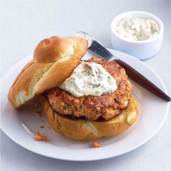 Photo of Salmon Burgers with Herb Aïoli