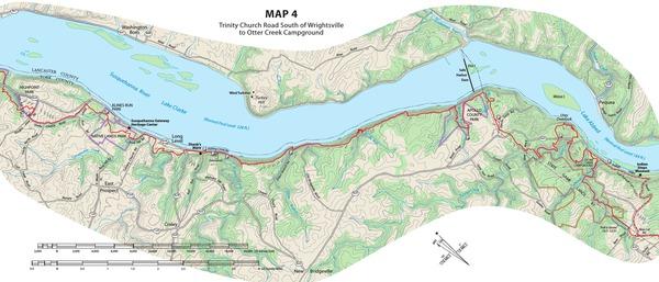 Mason-Dixon Trail Map 4- S of Wrightsville, PA to Otter Creek Campground, PA