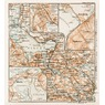 Siljan Lake district map. With Mora, Falun and Rättvik town plans, 1929