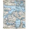 Vaxholm, Saltsjöbaden and environs map, 1910