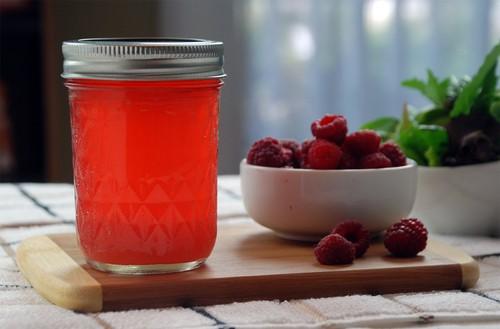 Raspberry infused vinegar