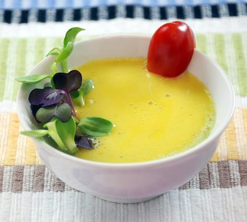 Mango siphon foam soup