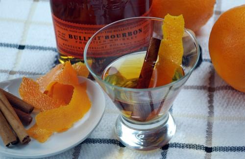 Orange cinnamon infused bourbon