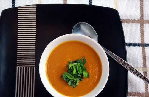 Pressure cooked carrot soup base