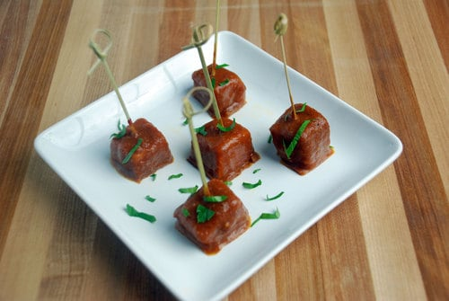 Tikka masala coated chicken cubes