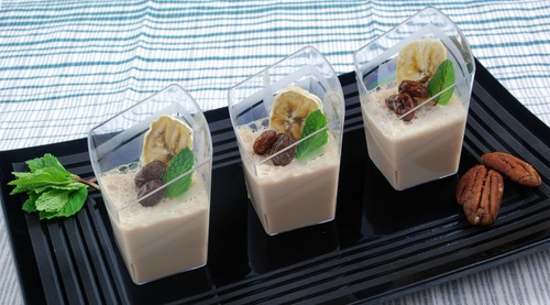 Maple pecan panna cotta