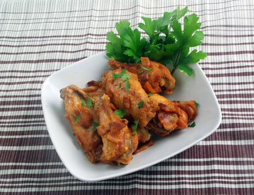 Chicken wings bacon
