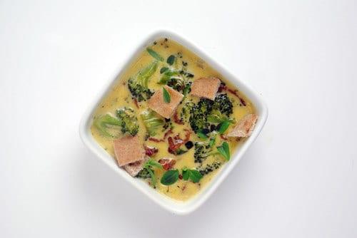 Bacon cheddar brocolli soup
