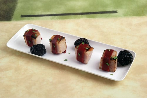 Blackberry wrapped pork