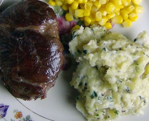 Rustic roasted mashed potatoes
