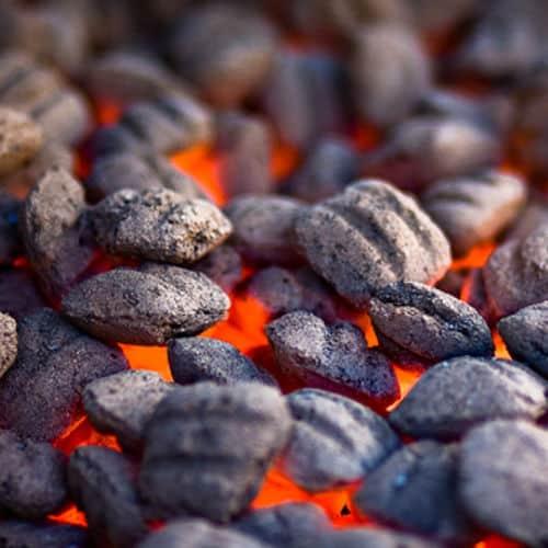 Charcoal grill coals