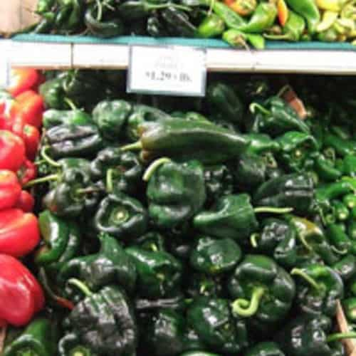 Poblano pepper market