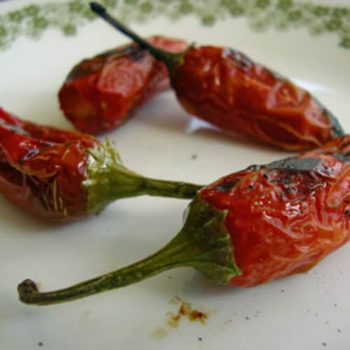 Jalapeno pepper roasted