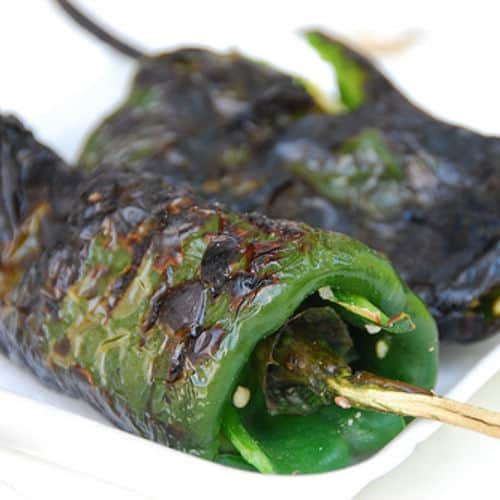 Serrano pepper roasted