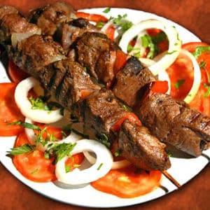 Sous vide lamb kebab