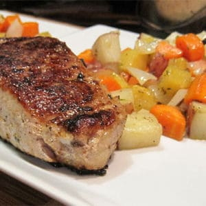 Simple sous vide pork chops web