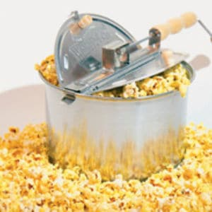 Specialty stovetop popcorn popper