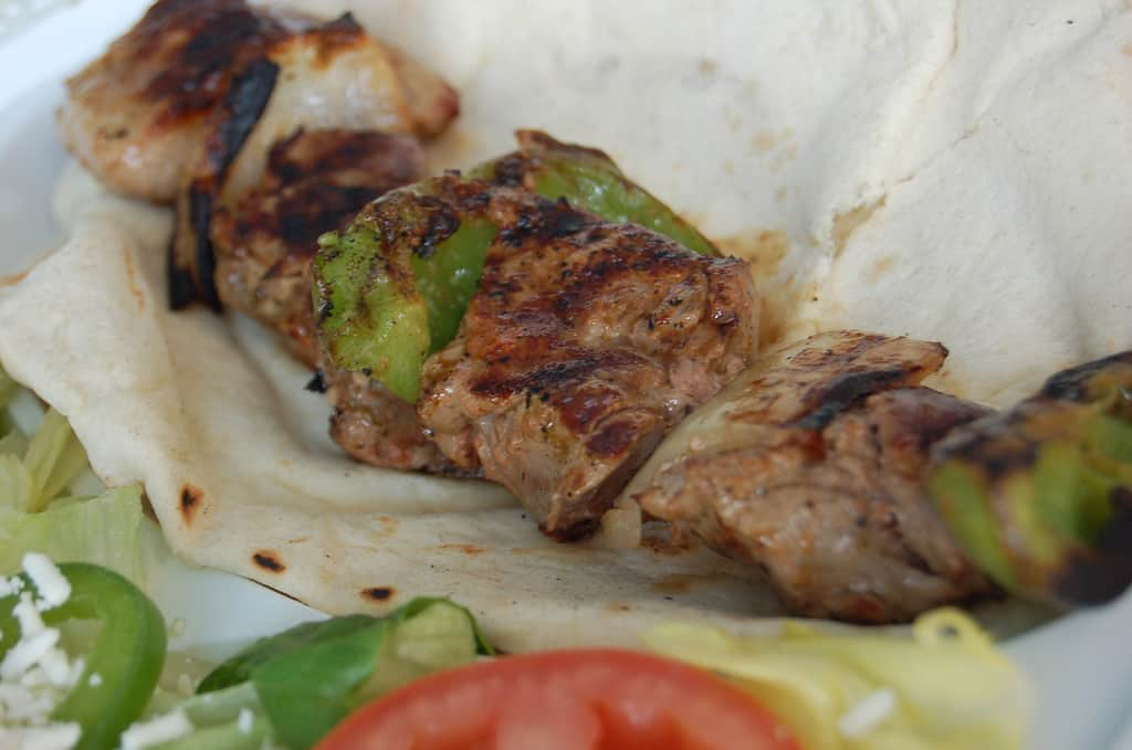 Sous vide beef kebabs
