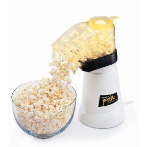 Air popped popcorn