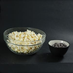 Make popcorn great small full