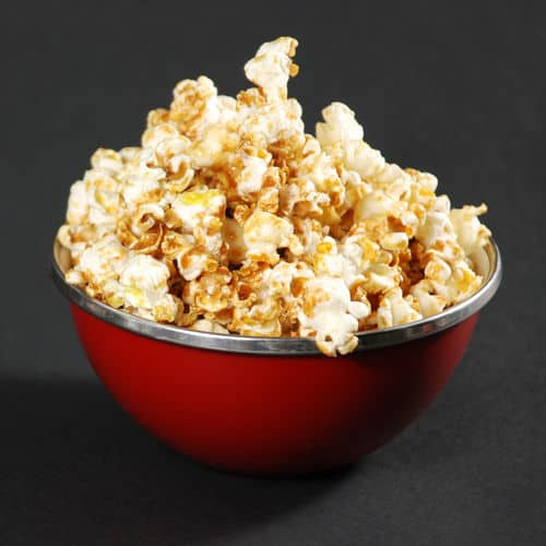 Caramel popcorn recipes square