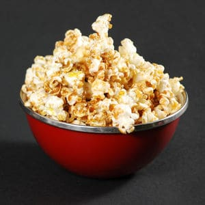 Caramel popcorn recipes square