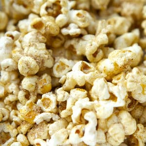Cinnamon popcorn close