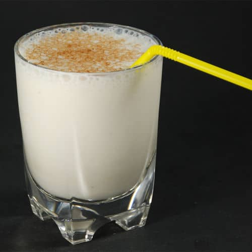 Xanthan gum banana milkshake
