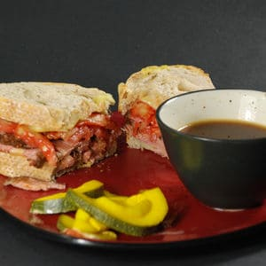 Sous vide french dip sandwiches