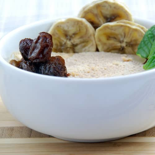 Maple pecan panna cotta close