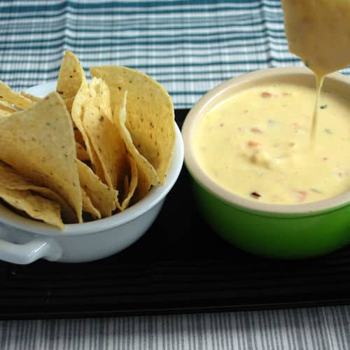 Shrimp and cheese queso