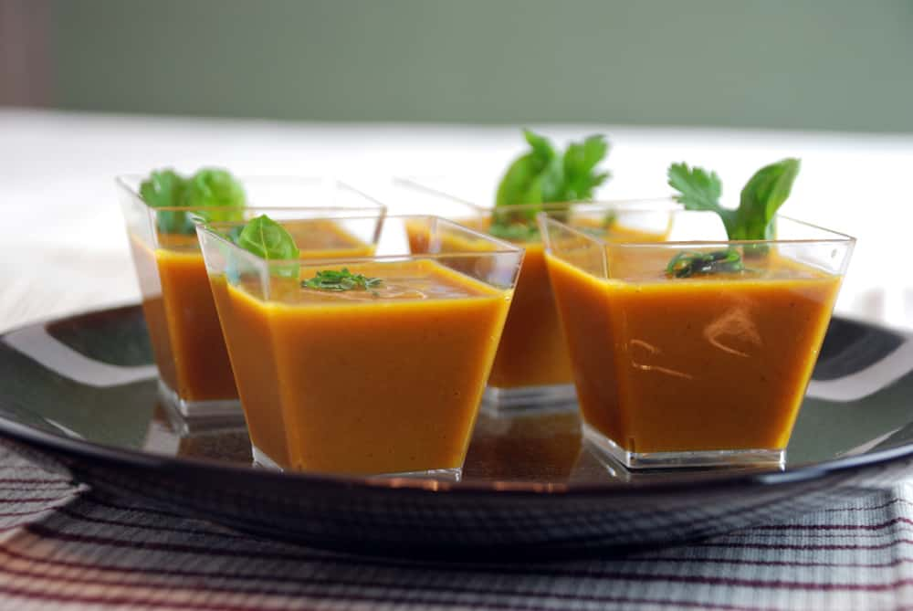 Ginger carrot soup pressure cooker level