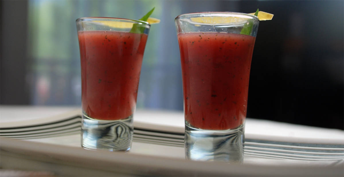 Watermelon Soup Recipe With Pickled Rind - Amazing Food Made Easy