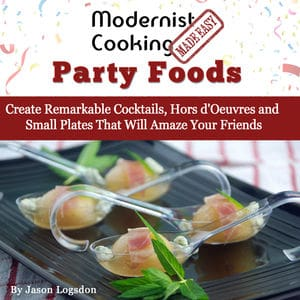 Modernist cooking party foods cover square