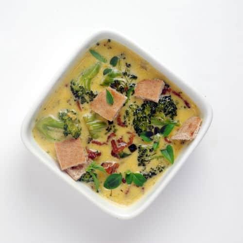 Bacon brocolli cheddar soup