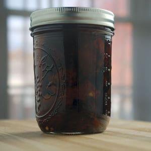 Sun dried tomato chile infused vodka