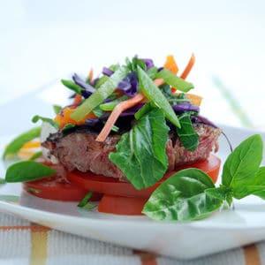 Sirloin steak slaw