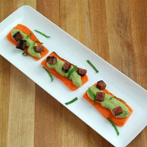 Carrot planks pea pudding