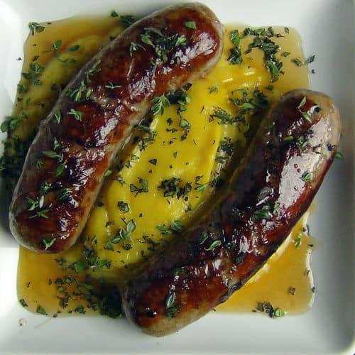 Italian sausage acorn squash puree