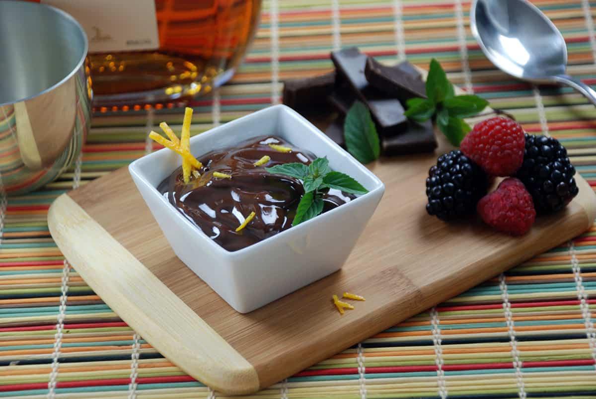 Chocolate mousse foam