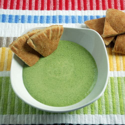 Spinach garlic dip