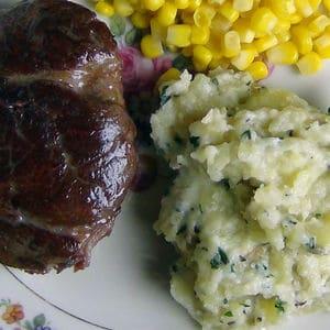 Rustic roasted mashed potatoes