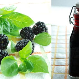 Blackberry basil infused rum
